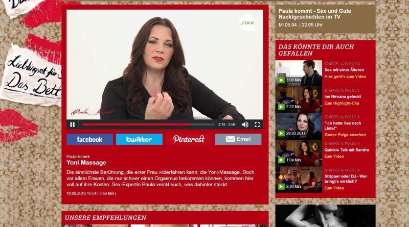 Screenshot Paula kommt Video Yoni-Massage