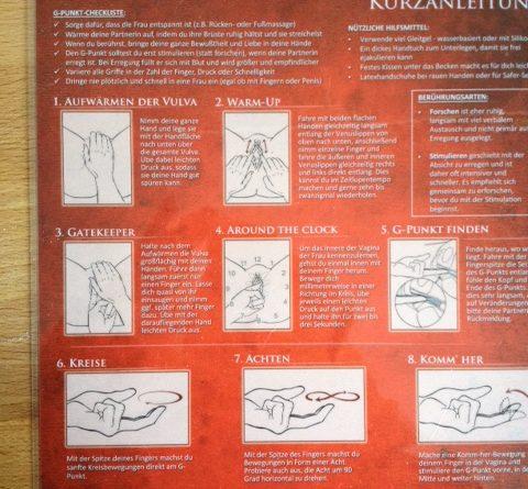 Kurzanleitung G-Punkt-Massage