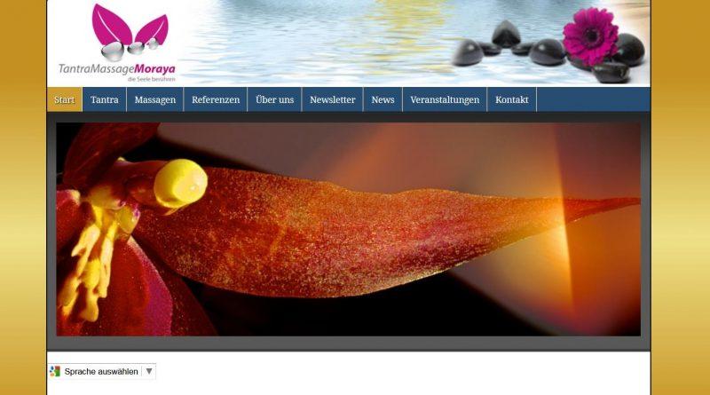 Screenshot Webseite Tantramassage Moraya
