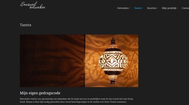 screenshot verhaltenscodex Tantramasseur Andre van Vliet Niederlande