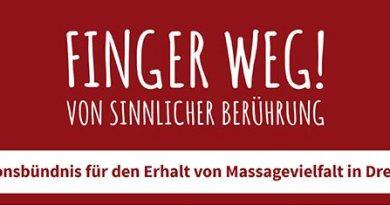 Finger weg Aktionsbündnis Dresden für Massagestudios - Prostituiertenschutzgesetz