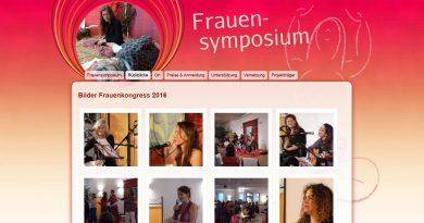 Srennshot Webseite Frauensymposium www.frauen-kongress.com