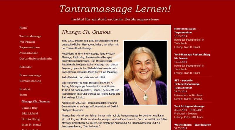 Screensshot Webseite Perlentor - Ausbildung in Yoni-Massage und Sexualcoaching
