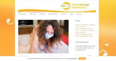 Screenshot Tantramassage Verband Presseinfo Corona Auflagen