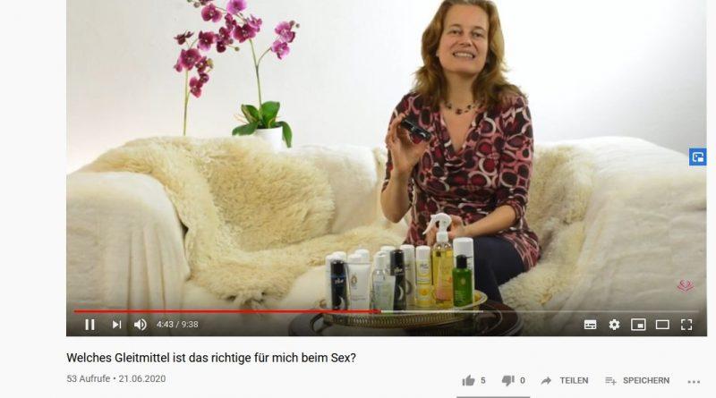 Screenshot mit Yella Cremer Video Gleitmittel