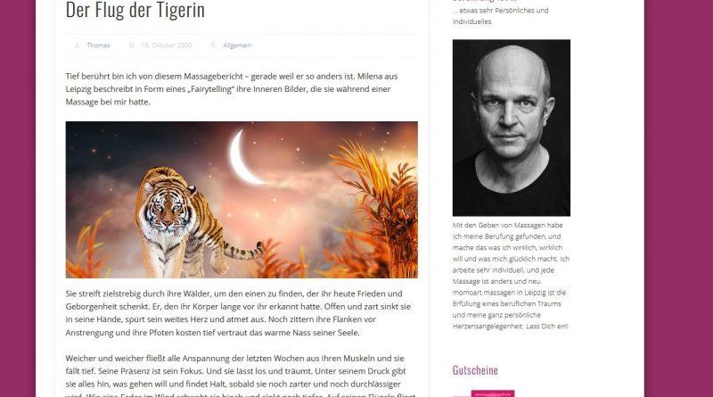 screenshot der Webseite MOmoart Leipzig Thomas Becher