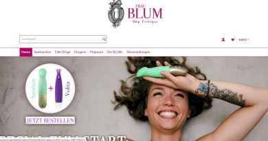 screenshot Frau Blum Onlineshop